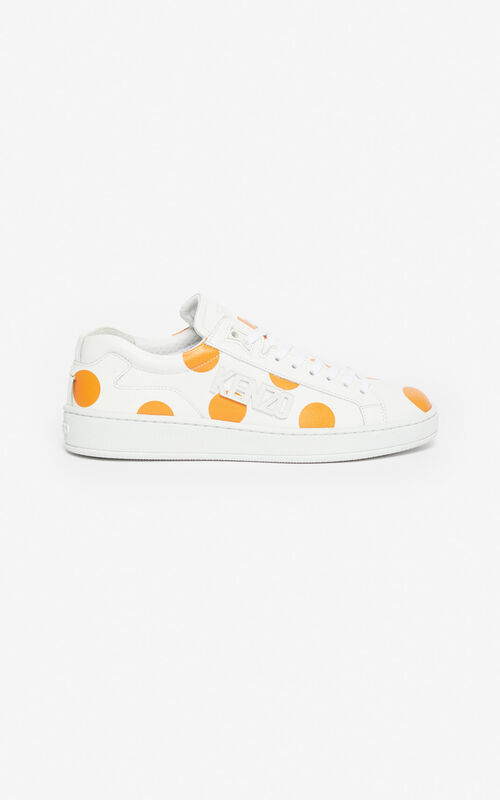 DEEP ORANGE 'Dots' Tennix sneakers for unisex KENZO