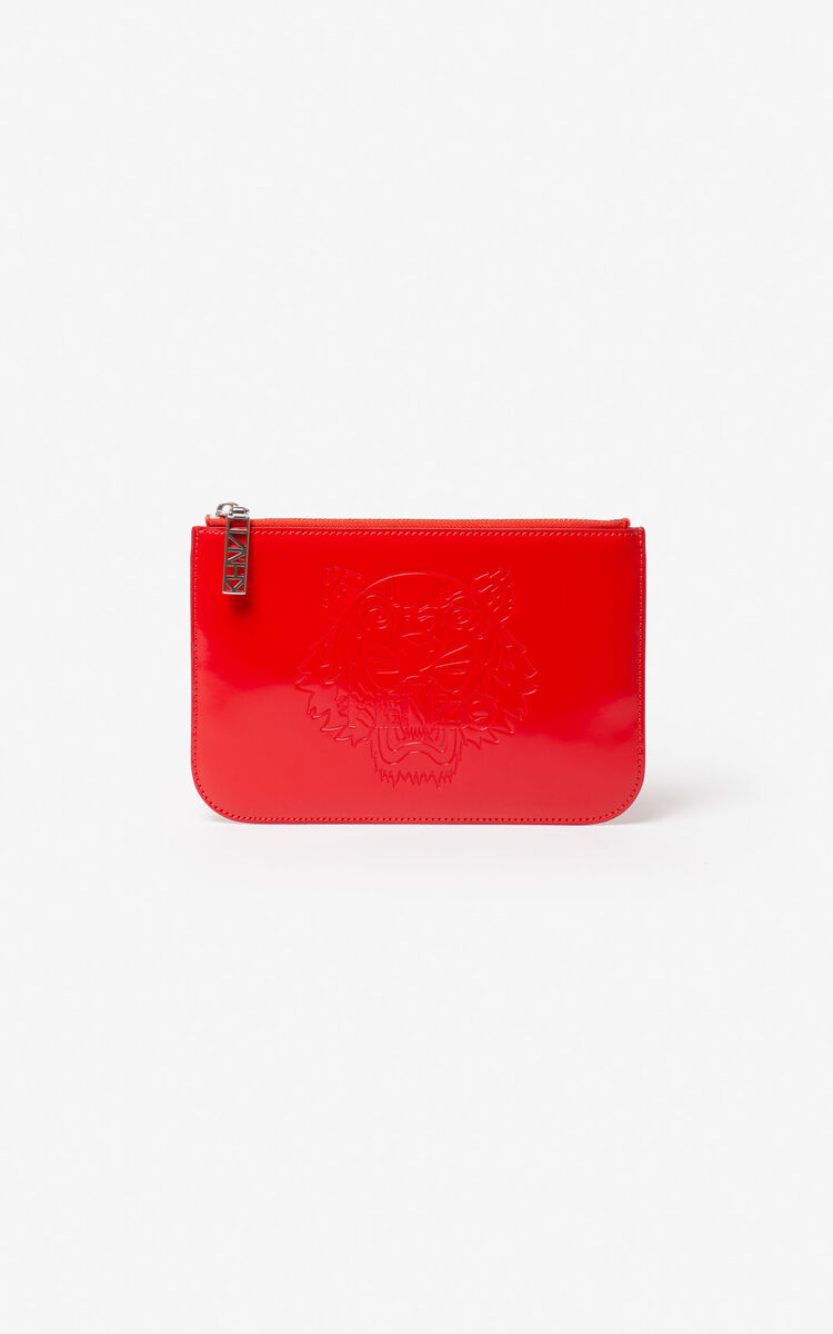 MEDIUM RED A5 Tiger clutch for women KENZO