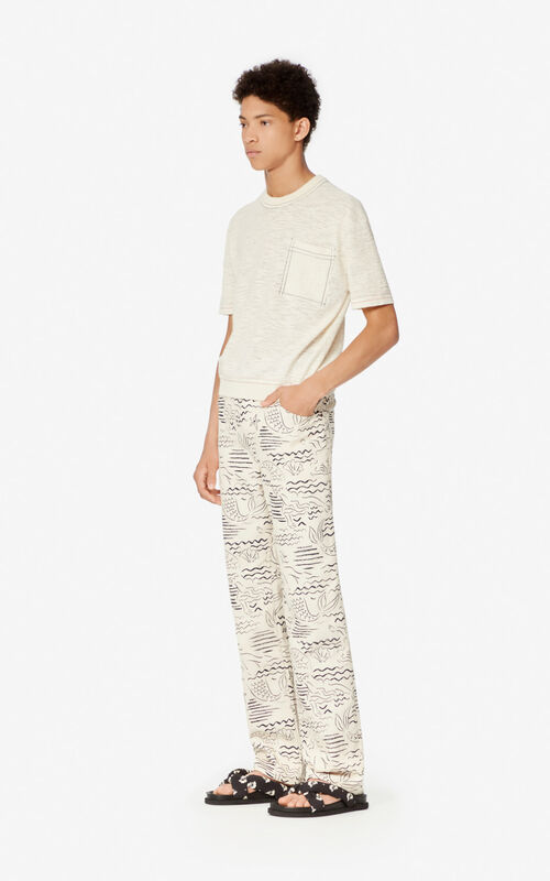 OFF WHITE Heathered t-shirt for men KENZO