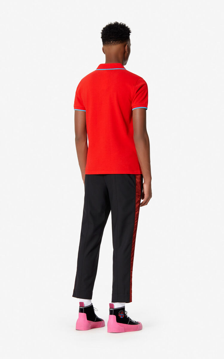 MEDIUM RED Tiger Crest Polo for men KENZO