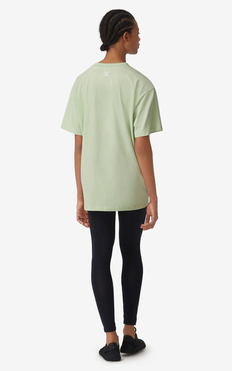 ALMOND GREEN KENZO Sport 'Big X' oversized t-shirt    for men
