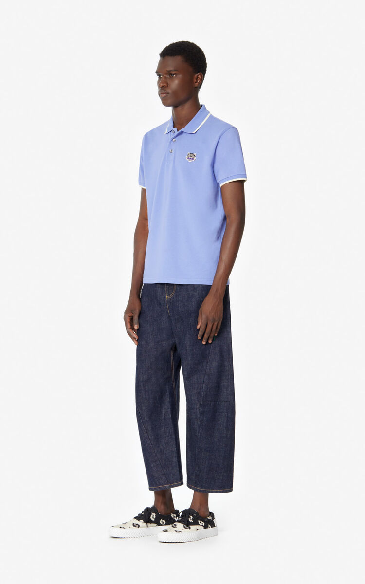 WISTERIA Fitted Tiger polo shirt  for men KENZO
