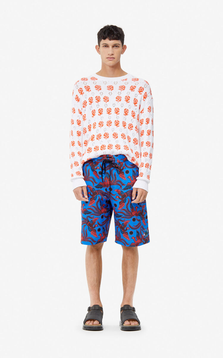 COBALT 'Flying Phoenix' swim trunks for men KENZO