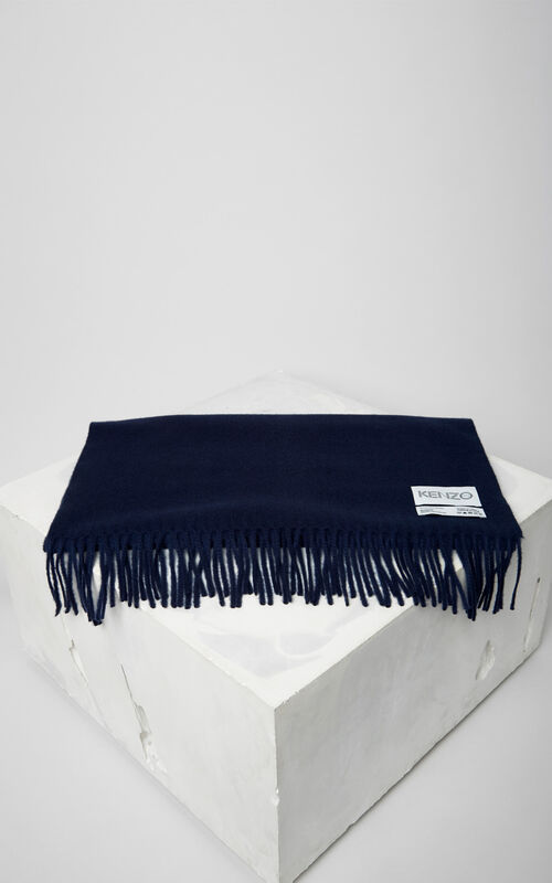 INK KENZO Label wool Scarf for women