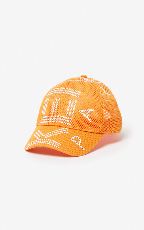 d5ab8e6c96fc65 MEDIUM ORANGE KENZO mesh logo cap for unisex ...