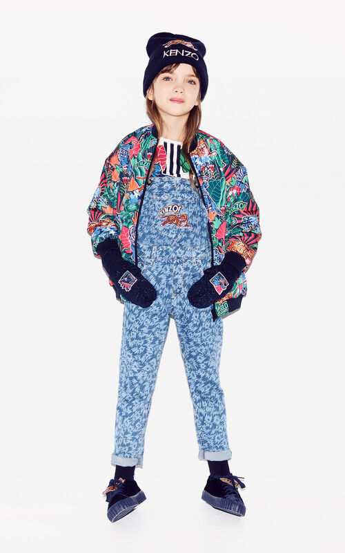 SKY BLUE 'Fantastic Jungle' dungarees for women KENZO