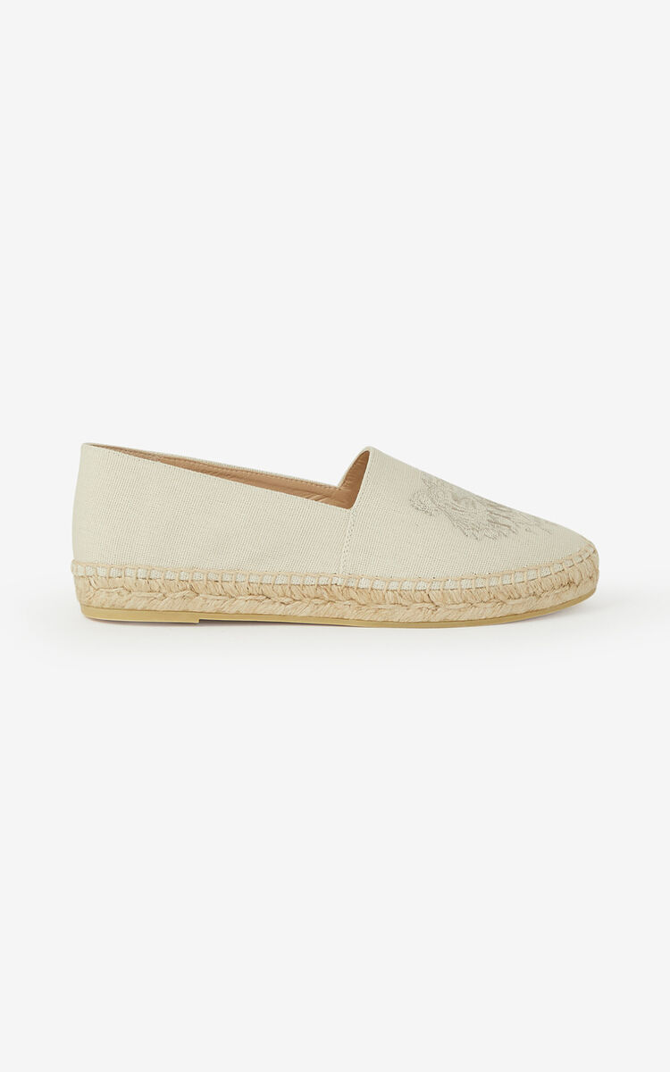 ECRU Canvas Tiger espadrilles for unisex KENZO