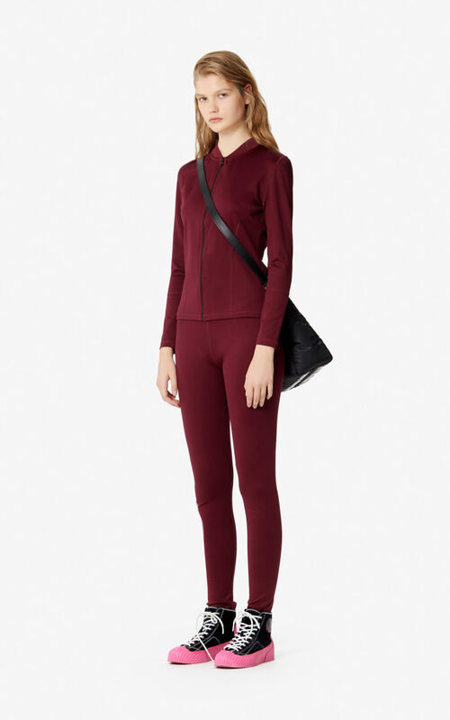 BORDEAUX Kenzo Logo legging for women