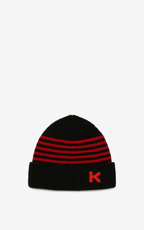 MEDIUM RED Wool beanie for men KENZO