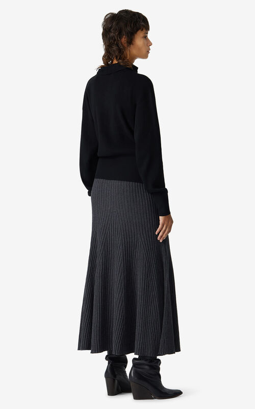 BLACK Structured jumper for women KENZO