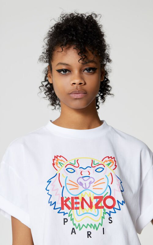 WHITE Tiger t-shirt for men KENZO