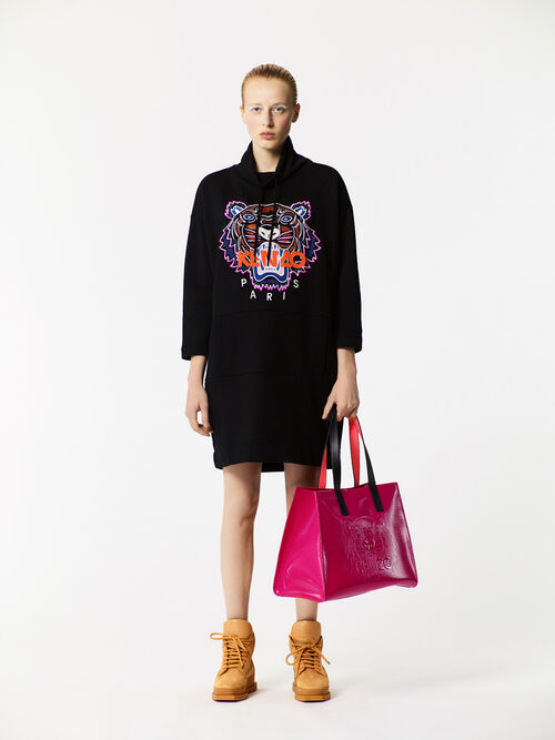 DEEP FUSCHIA Tiger Tote Bag for women KENZO