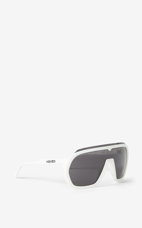 WHITE KENZO Sport sunglasses for unisex