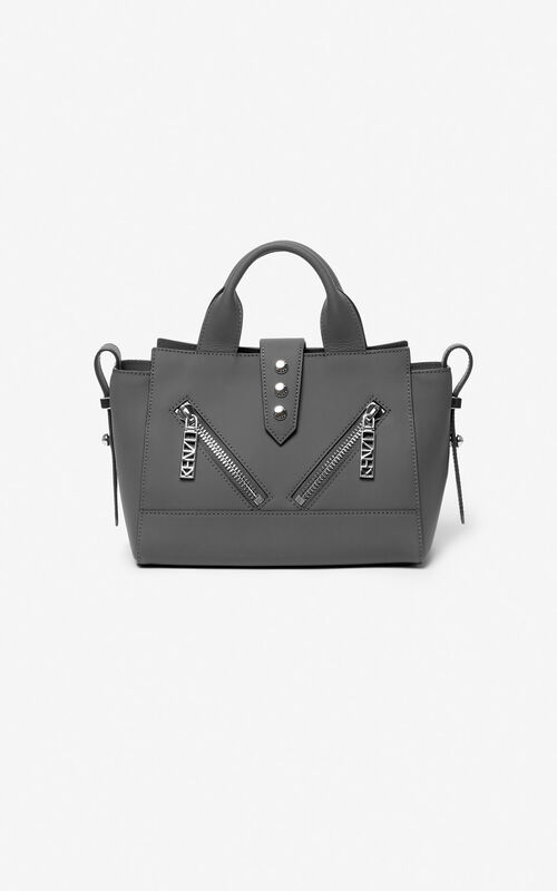 ANTHRACITE Mini Kalifornia bag Gommato leather for unisex KENZO