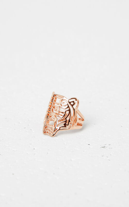 GOLD Medium Tiger ring for unisex KENZO