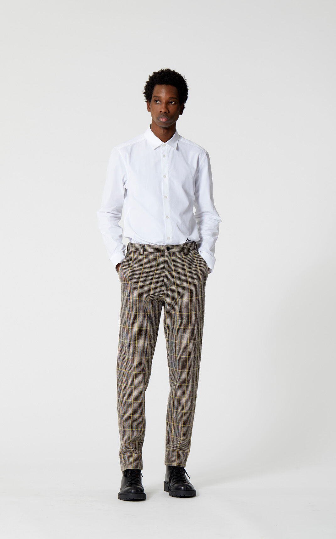 PALE CAMEL 'Harris' check trousers for men KENZO