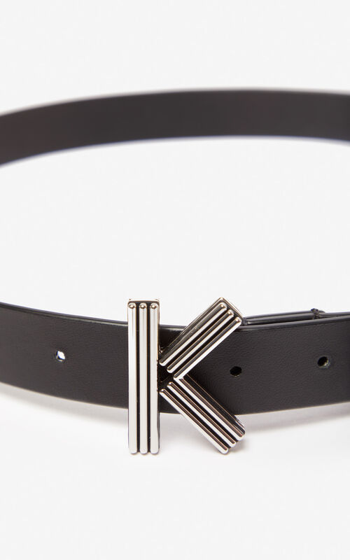 BLACK Thin K-Bag belt KENZO