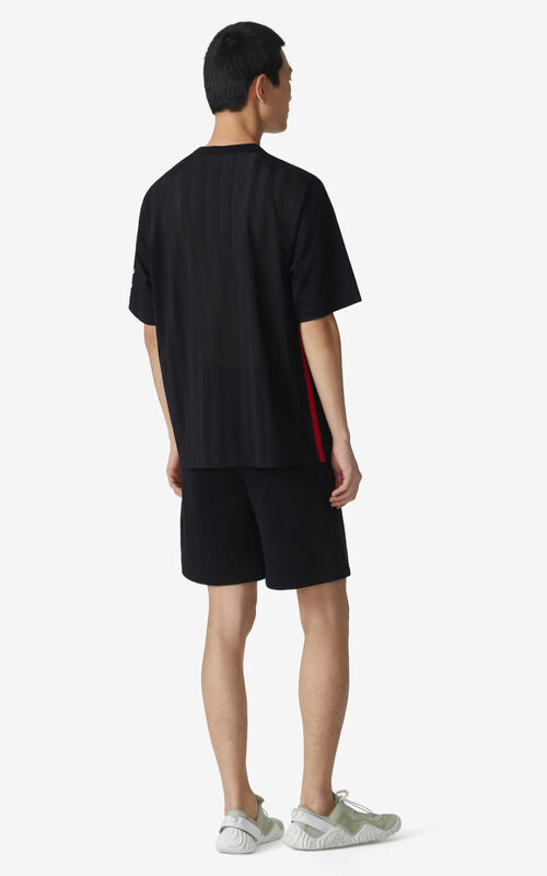 BLACK KENZO Sport 'Little X' T-shirt with mesh for men