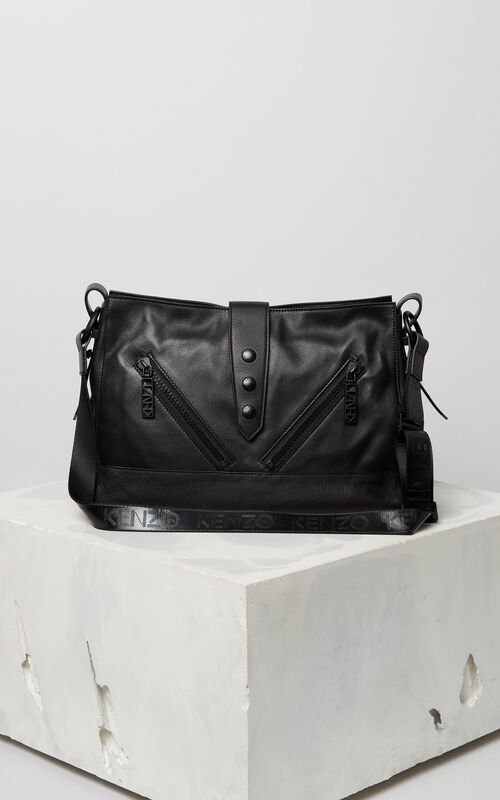 BLACK Sport leather Kalifornia bag for unisex KENZO