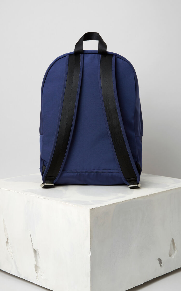 NAVY BLUE Large Tiger Canvas backpack for women KENZO