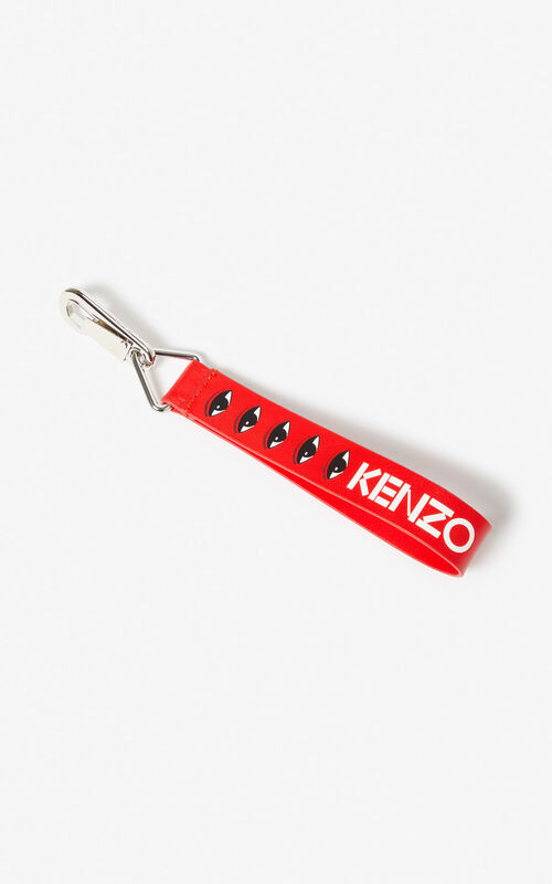 MEDIUM RED Multi-Eye bag charm for unisex KENZO