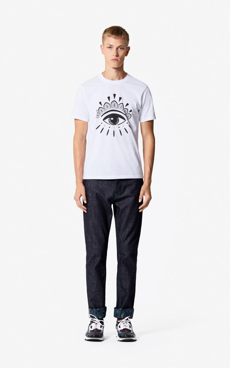 WHITE Eye t-shirt for men KENZO