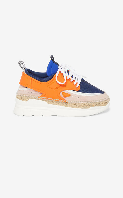 MEDIUM ORANGE K-Lastic espadrilles for women KENZO