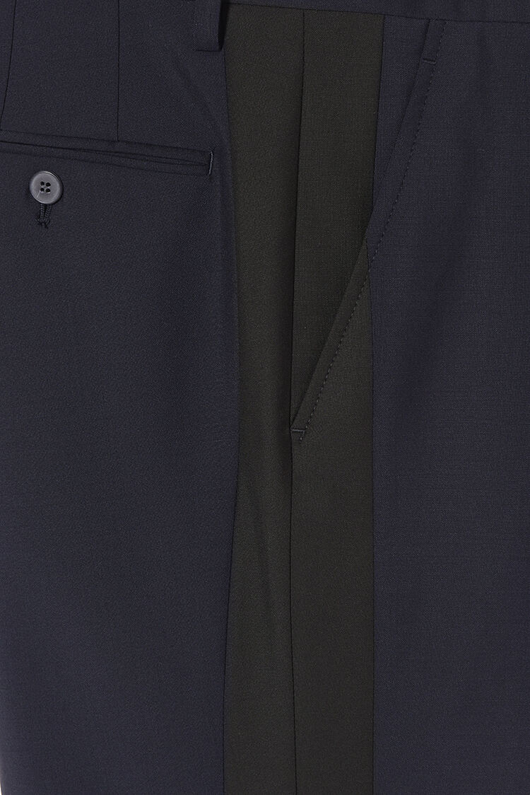 MIDNIGHT BLUE Wrinkle Free Panelled Trouser for men KENZO