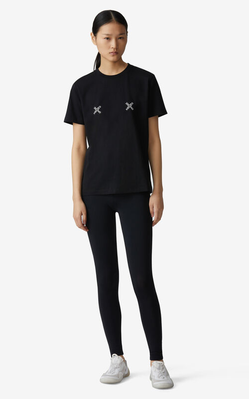 BLACK KENZO Sport 'Triple X' loose T-shirt for women