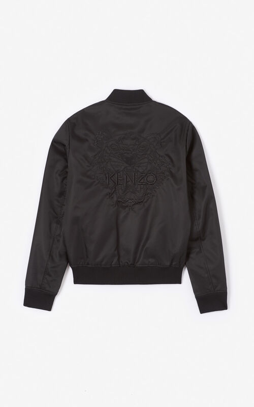 BLACK Tiger Bomber Jacket for unisex KENZO