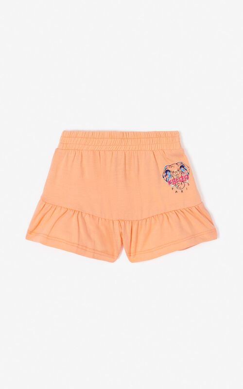 PEACH 'Disco Jungle' frilly shorts for women KENZO
