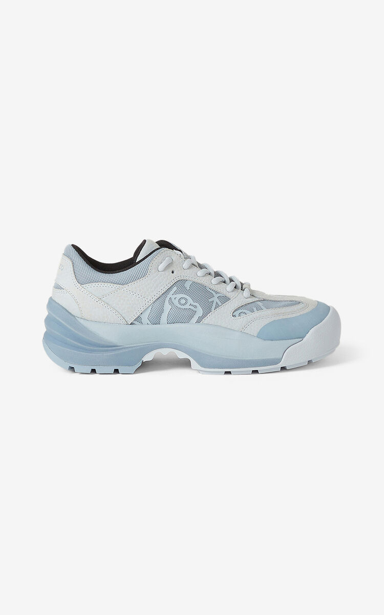 PALE GREY KENZO Work sneakers for women