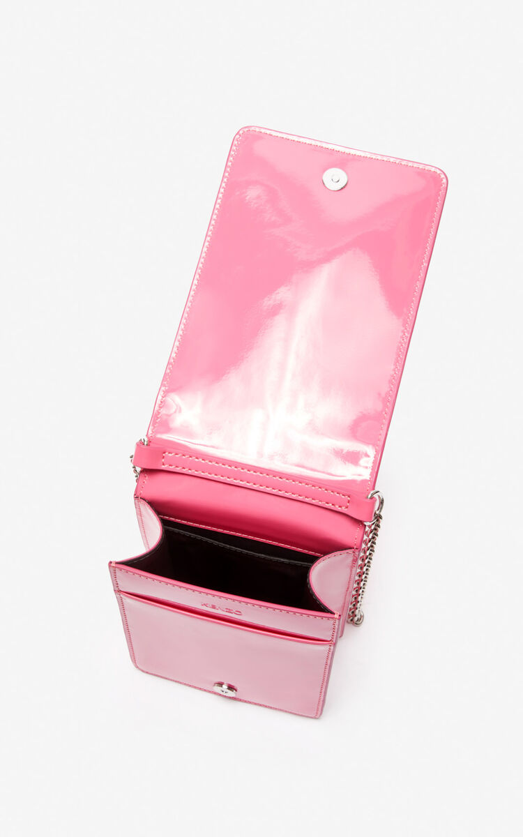 DEEP FUSCHIA Phone Holder on Chain Tiger for unisex KENZO