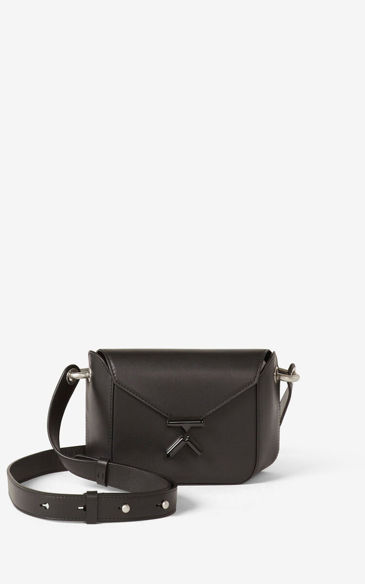BLACK KENZO K small leather crossbody bag for women