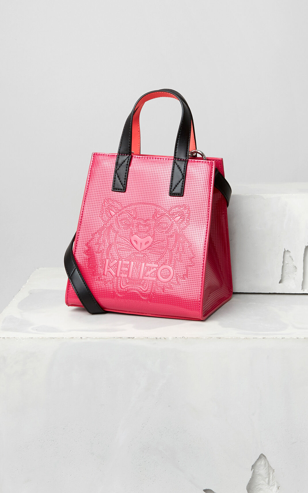 DEEP FUSCHIA Mini Tiger Tote Bag for women KENZO