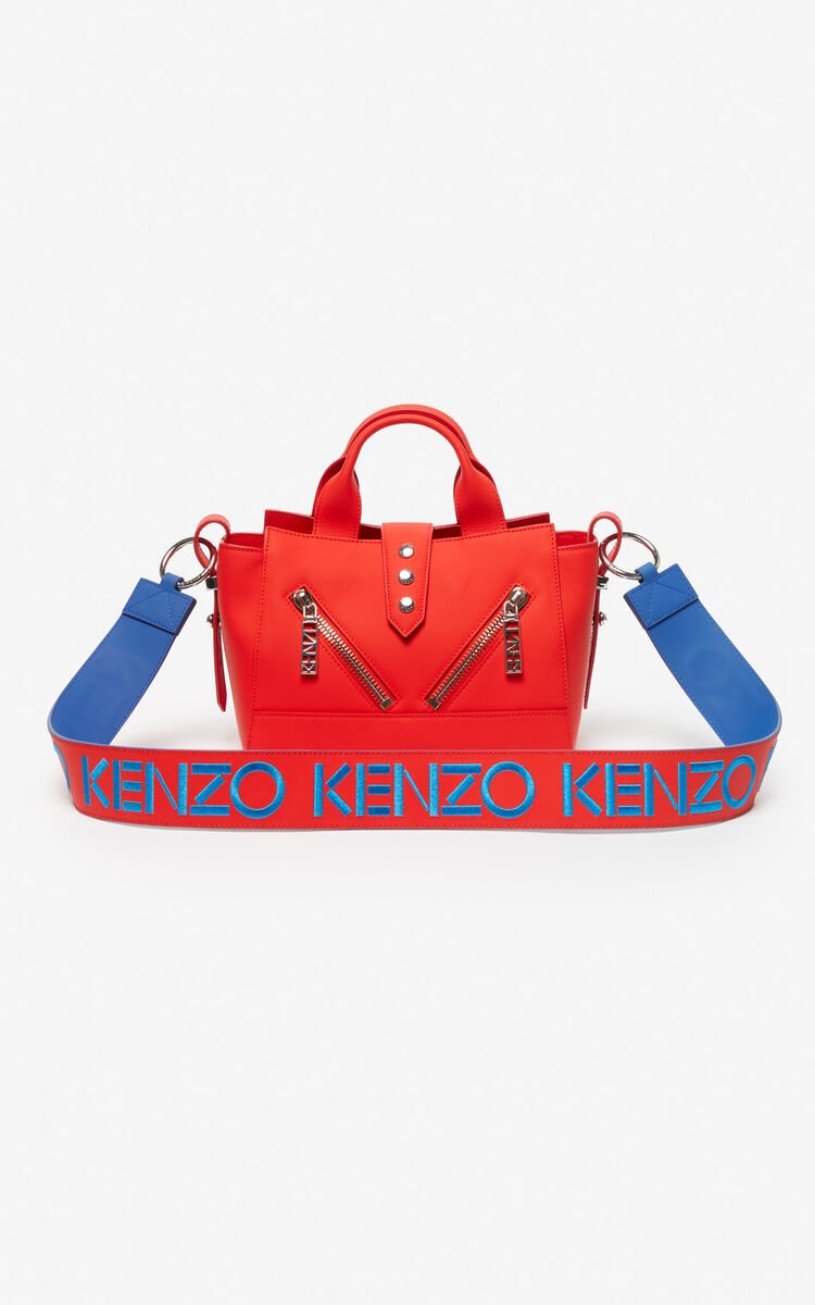 COBALT KENZO logo reversible leather shoulder strap for unisex