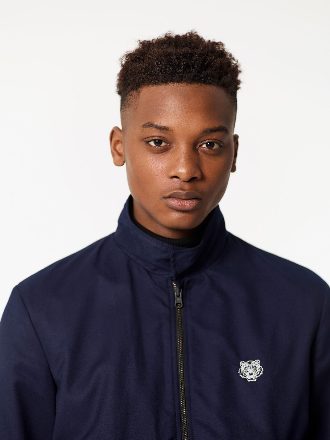 NAVY BLUE Tiger crest reversible bomber jacket for men KENZO
