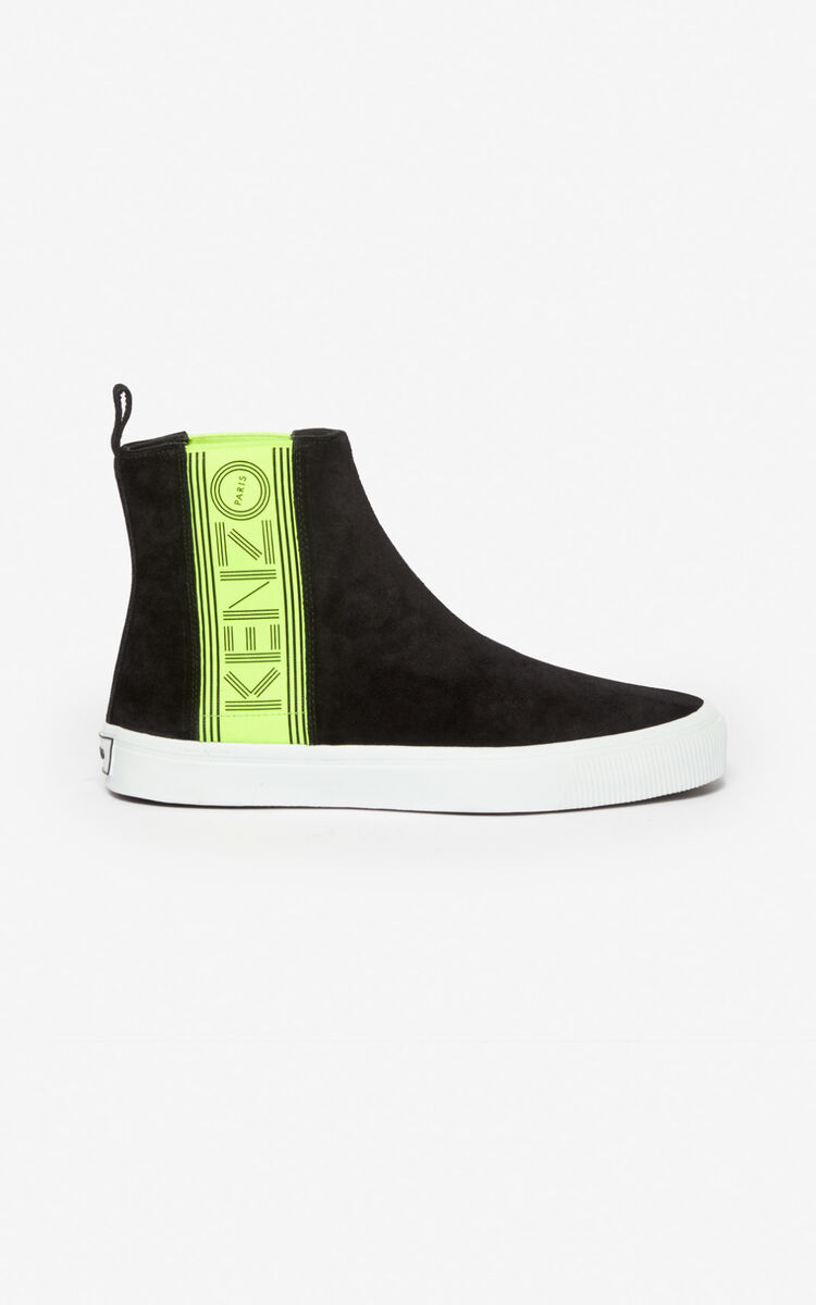 BLACK Kapri slip-on high top shoes for global.none KENZO