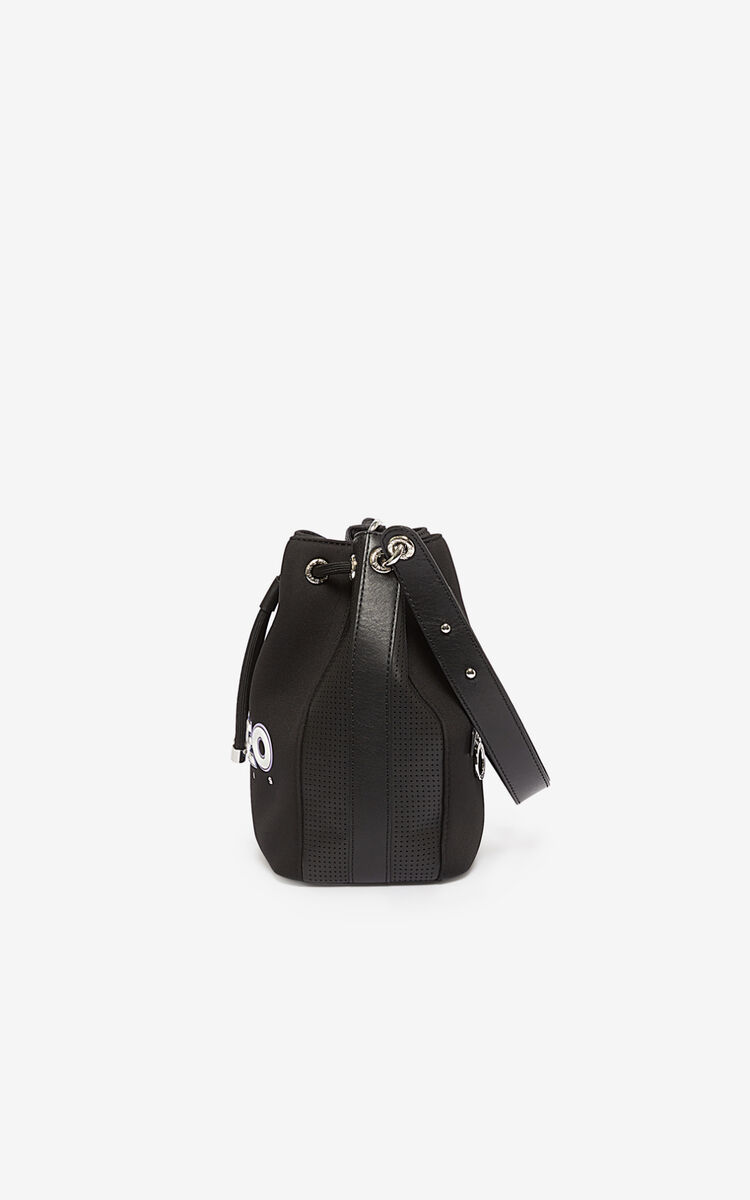 BLACK Neoprene Kombo bucket bag  for unisex KENZO
