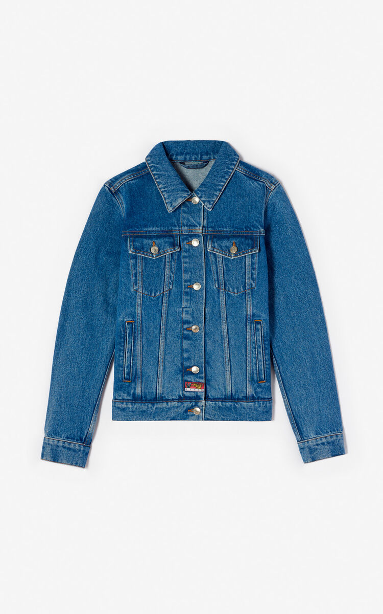 INK 'Bamboo Tiger' denim jacket for women KENZO