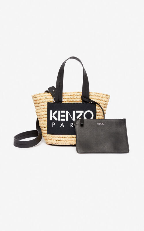 BLACK Small Summer basket for unisex KENZO