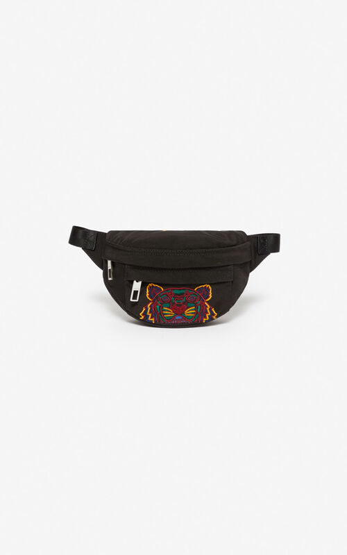 BLACK Mini 'Kampus' Tiger bumbag for unisex KENZO