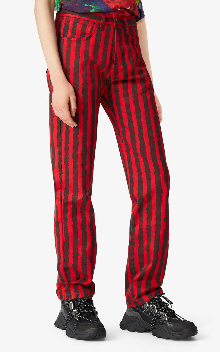 MEDIUM RED Striped jeans    for women KENZO