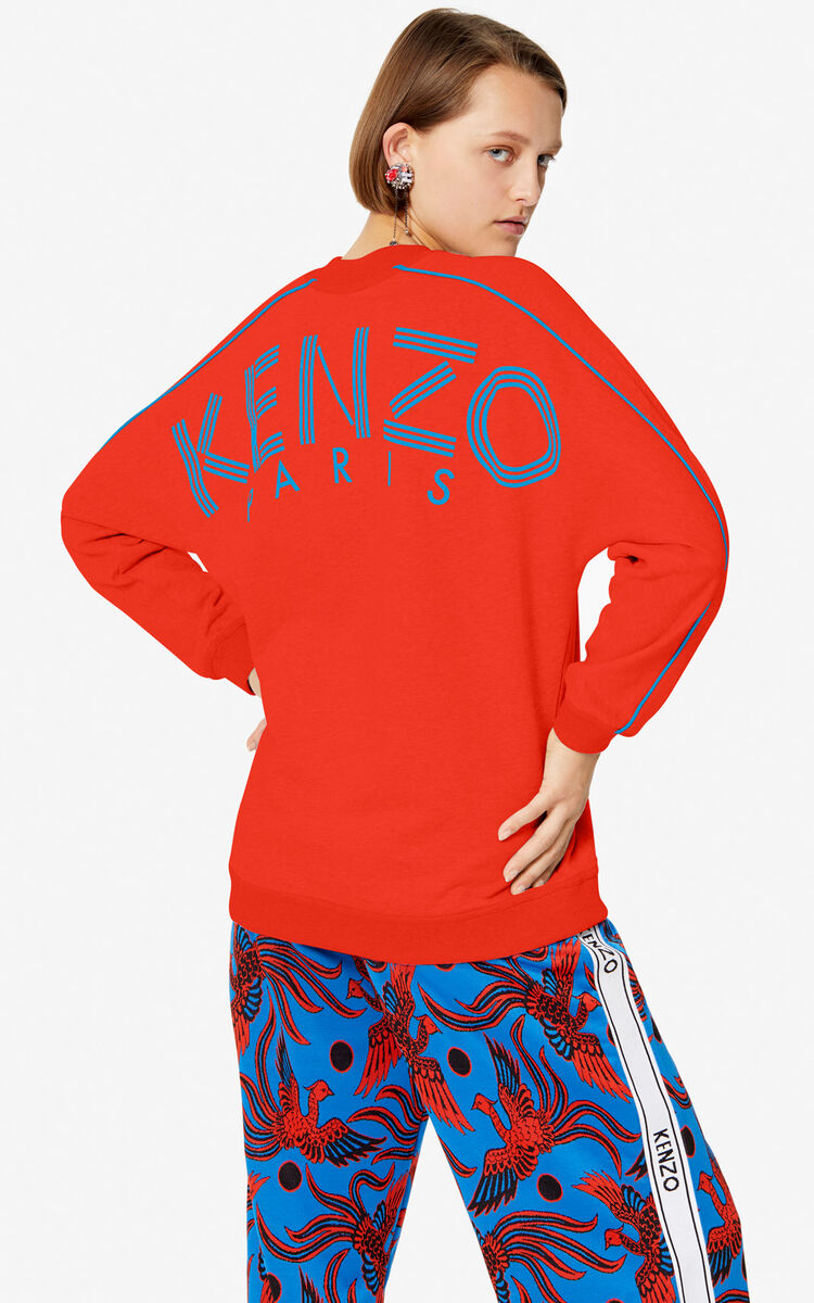 MEDIUM RED KENZO Logo sweatshirt for women