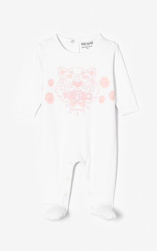 WHITE Tiger sleepsuit for women KENZO