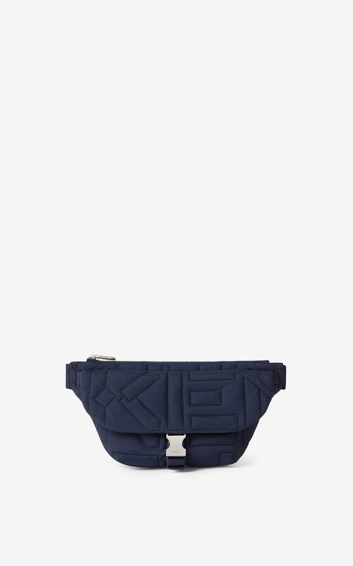 NAVY BLUE Arctic belt bag for unisex KENZO