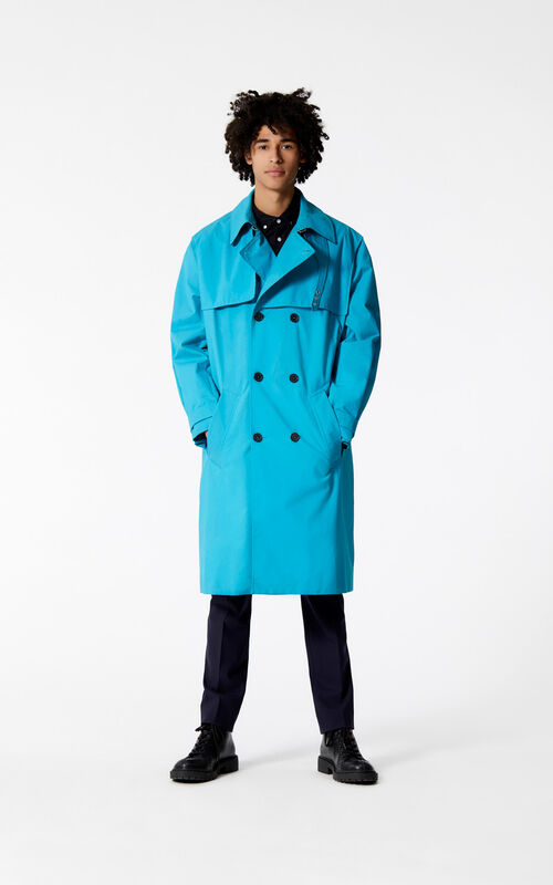 TURQUOISE Trench coat for men KENZO