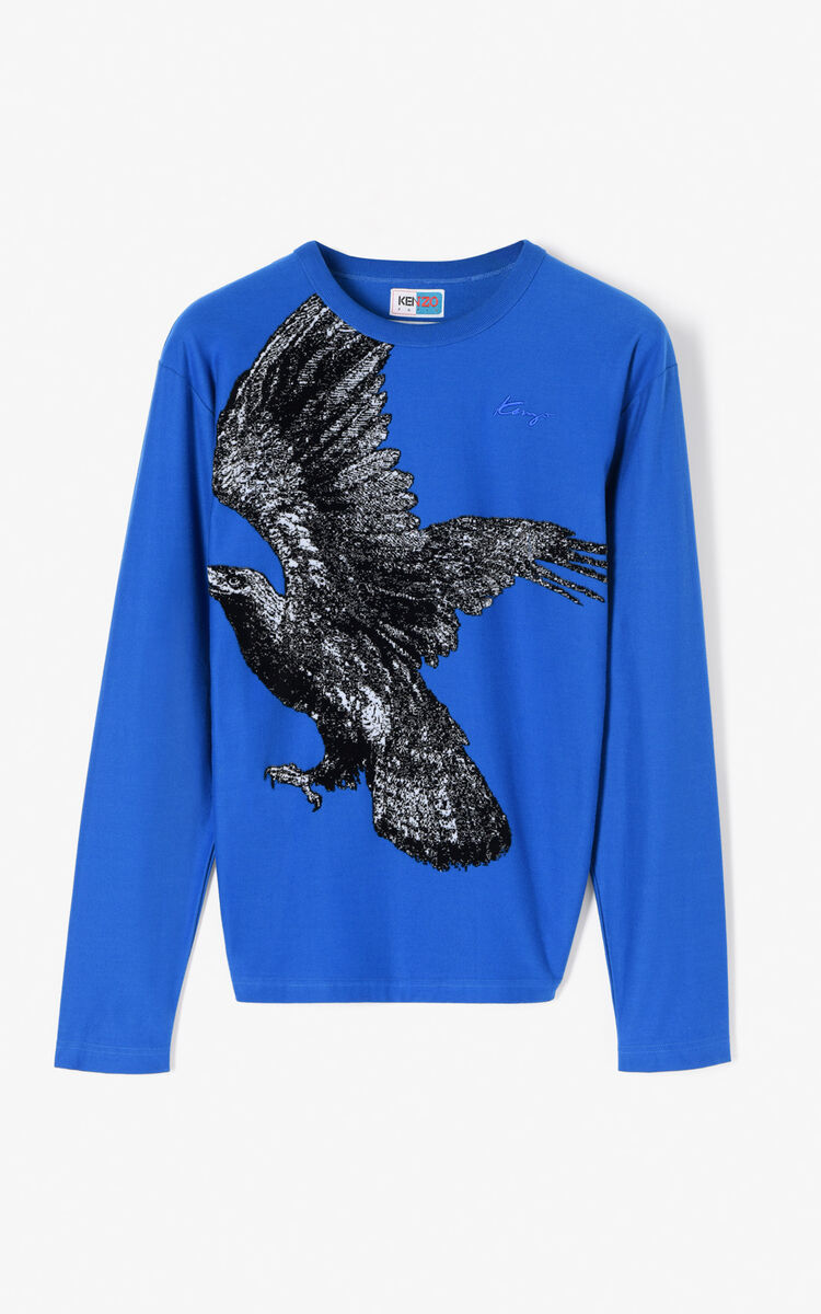 FRENCH BLUE 'Eagle' Long Sleeve T-shirt for men KENZO