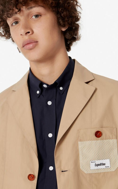PALE CAMEL Reversible blazer jacket for men KENZO