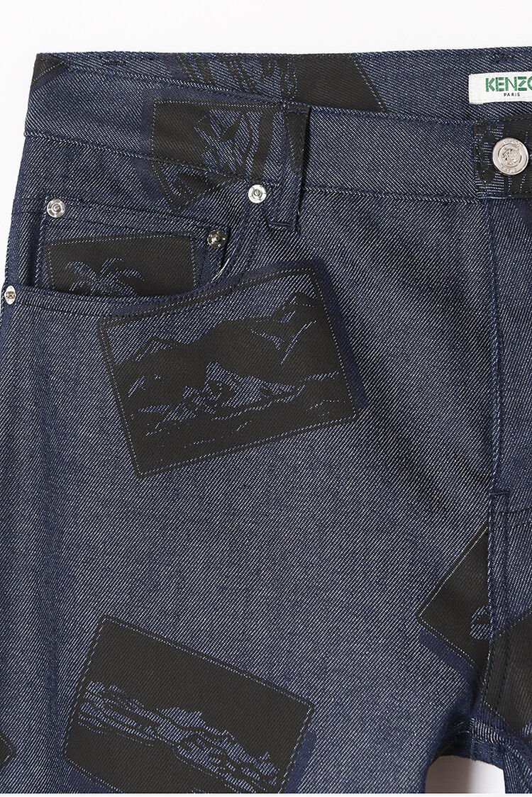 NAVY BLUE Postcard Jeans for men KENZO